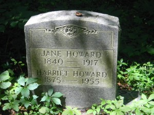 High Rock Cemetery - Jane and Harriet Howard
