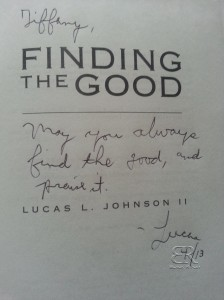 Finding the Good by Lucas L. Johnson II