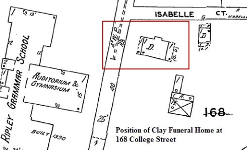 Clay Funeral Home on 1927-1942 Sanborn Map