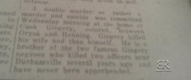 Gingery Murder Lauderdale County Enterprise