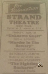 Strand Theater January 21, 1944