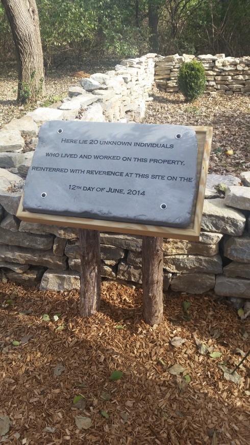 Slave Burial Site Marker